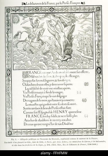 This political and allegorical poster dates to 1594, the time of the Protestant Reformation. It is titled 'The - Stock-Bilder