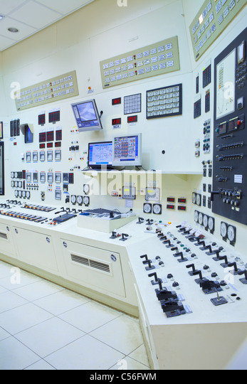 The control room of a power generation plant - Stock Image