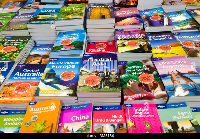 Lonely Planet travel guide books - Stock-Bilder