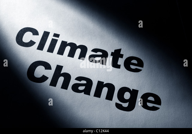 light and word of Climate Change for background - Stock Image