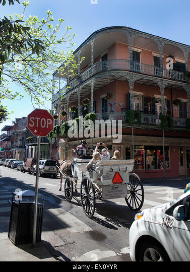 New orleans french quarter carriage stock photos new for New orleans street style