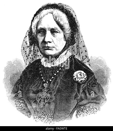 Elise Friedrike Felicitas Freiin von Hohenhausen, a German author, - Stock-Bilder