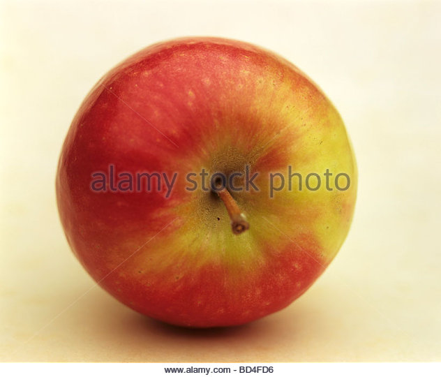 An apple, variety: Pink Lady (South Africa) - Stock Image