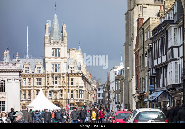 Kings Parade Cambridge England - Stock Image