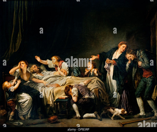 Paternal Curse Son punished 1778 Jean Baptiste Greuze 1725 –1805 France French - Stock Image