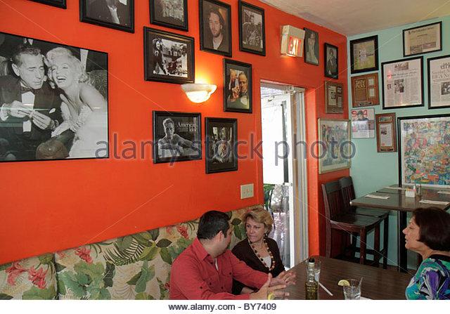Miami Florida Fresco California Bistro restaurant interior celebrity pictures - Stock Image