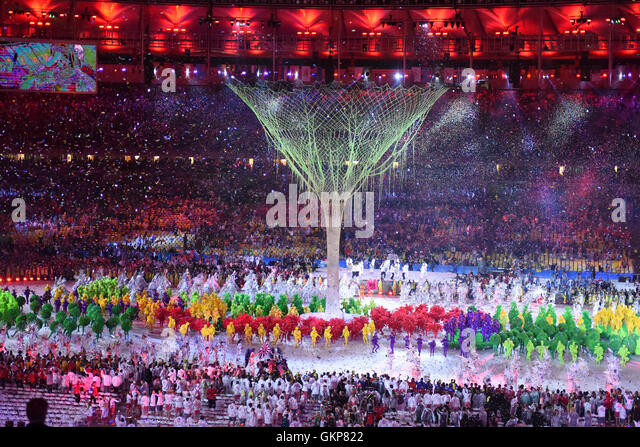 RIO DE JANEIRO, RJ - 21.08.2016: CLOSING OF THE RIO 2016 OLYMPICS - Photo during the Closing Ceremony of the Rio - Stock-Bilder