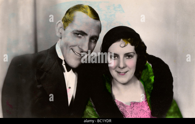 Jack Hulbert (1892-1978) and his wife Cicely Courtneidge (1893-1980), English actors, 20th century. - Stock Image