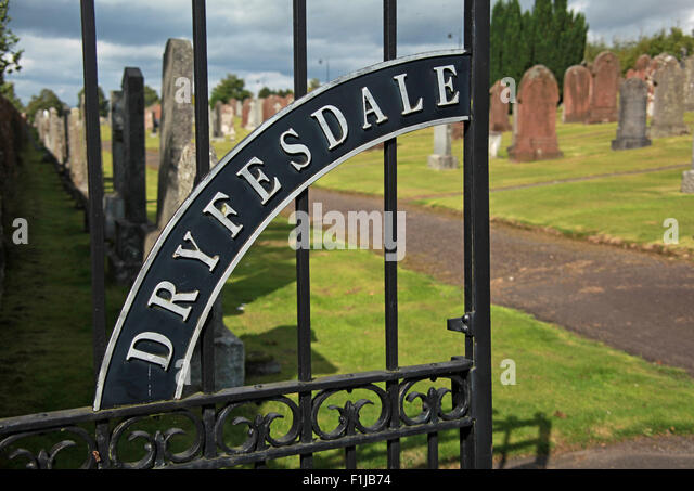 Lockerbie PanAm103 In Rememberance Memorial Entrance Gates Dryfesdale Cemetary Scotland - Stock Image