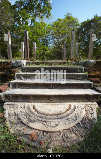 Remains of monastic residences, Northern Ruins, Anuradhapura, UNESCO World Heritage Site, North Central Province, - Stock Image