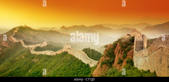 Great Wall of China at Sunrise. - Stock-Bilder