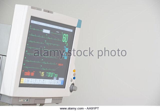 Heart monitor - Stock Image