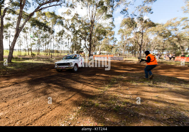 Avoca, Australia. 27th Aug, 2017. MELBOURNE, AUSTRALIA – AUGUST 27: Driver David Lawrance and Co Driver Darren Davison - Stock Image