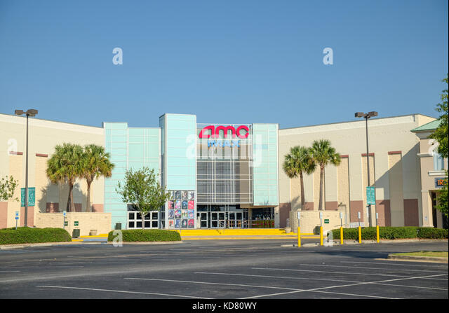 The AMC theater and IMAX in a suburban shopping center. Montgomery, Alabama USA. - Stock Image