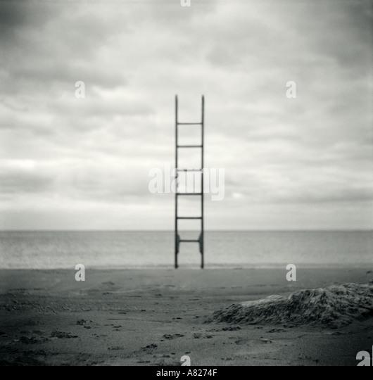 Ladder on Beach - Stock-Bilder