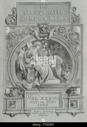 The Illustrated London News titlepage, July to December, 1860 - Stock Image