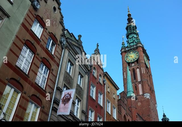 The Town Hall in Gdansk, Poland, central/eastern Europe. June 2017. - Stock Image