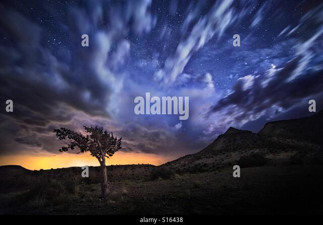 Clouds near Magdalena Peak - Stock Image