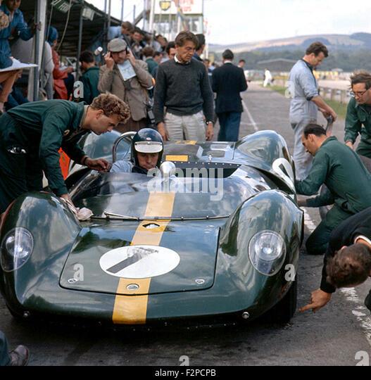 Jim Clark in a Lotus 30 Goodwood Tourist Trophy 1964 - Stock Image