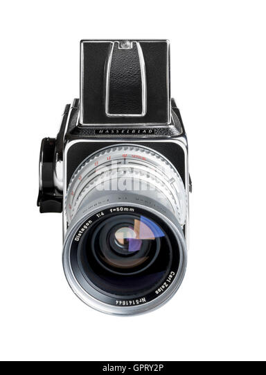 Rare 1972 Hasselblad 500 CM with C designation with 50mm lens - Stock Image
