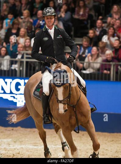 London UK. 20th December, 2015. The Longines FEI World Cup. Ben Maher (GBR) riding Diva II @Julie Priestley/AlamyLiveNews - Stock Image