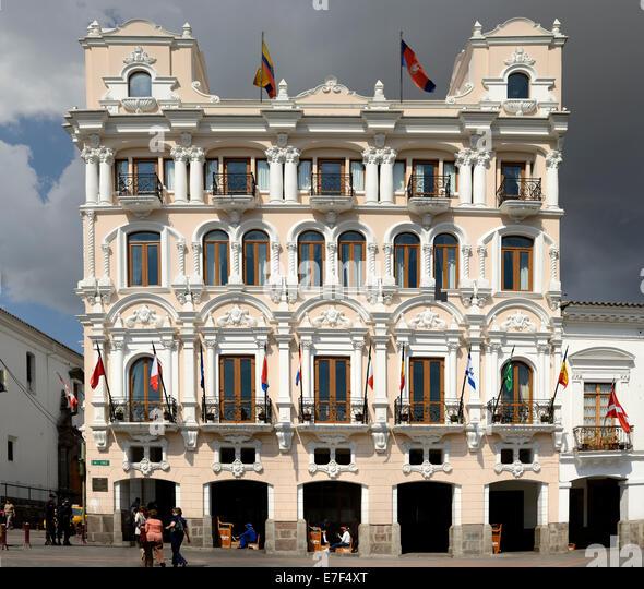 Historic building, Quito, Ecuador, South America - Stock Image