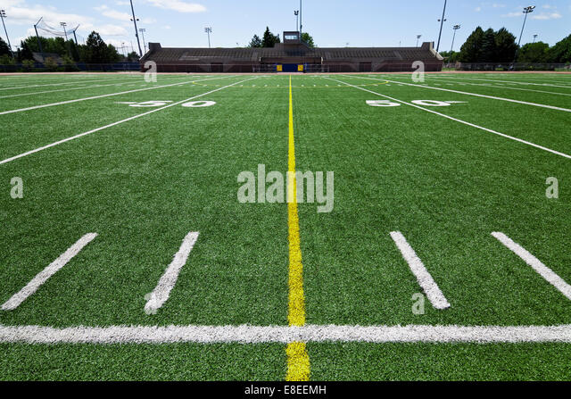 Football field - Stock Image