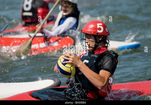 2008 Canoe polo championships - Stock Image