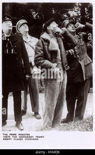 British Prime Minister Winston Churchill (1874-1965), Field Marshal Jan Smuts, of the Imperial War Cabinet (1870 - Stock Image