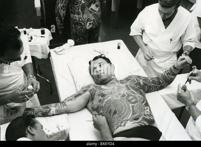 ROD STEIGER in makeup for 1969 Warner film The Illustrated Man - Stock Image