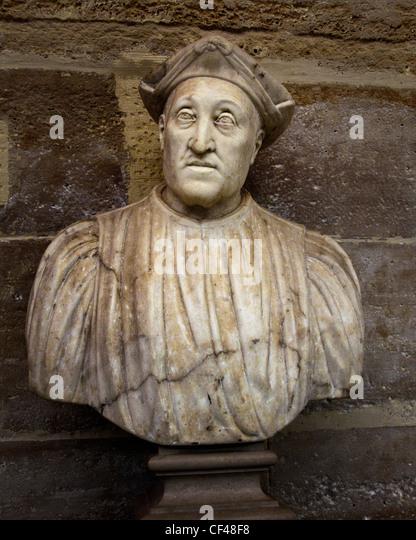 Giano Grillo 1544 or Ansaldo Grimaldi 1539 Bust of a patrician 16 cents Genoa Italy Italian - Stock Image