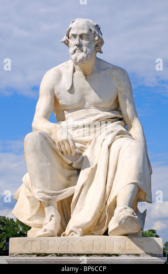 Vienna, Austria. Parliament. Statue of Thucydides (Greek Historian and author) - Stock Image