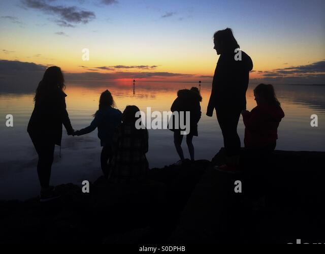 Together as friends - Stock Image