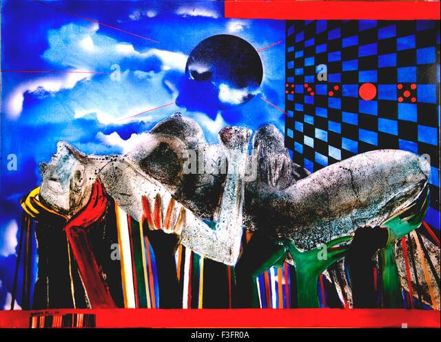 Acrylic on canvas - Stock Image