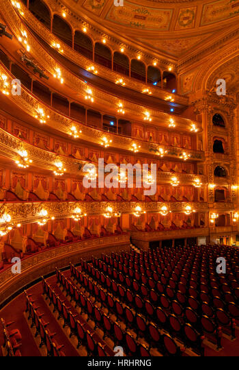 Interior view of Teatro Colon and its Concert Hall, Buenos Aires, Buenos Aires Province, Argentina - Stock-Bilder