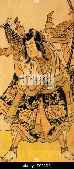 The actor Ichikawa Monnosuke. - Stock-Bilder