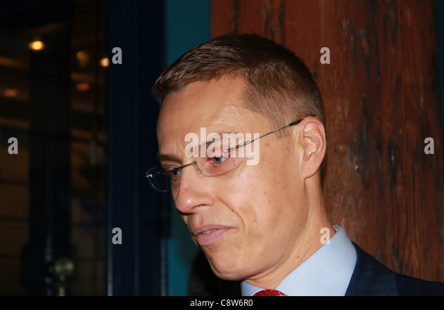 Copenhagen, Denmark, 02/11/2011. Minister for European Affairs and Foreign Trade of Finland  Alexander Stubb during - Stock Image