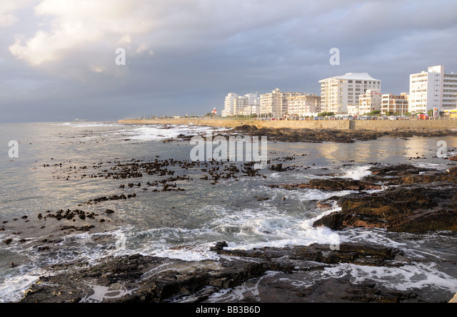 Evening light over Green Point Cape Town south Africa - Stock Image
