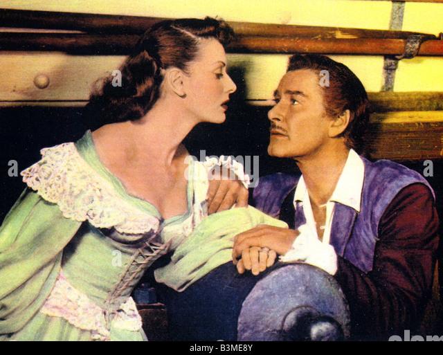 AGAINST ALL FLAGS  1952 U-I film with Errol Flynn and Maureen Hara - Stock-Bilder