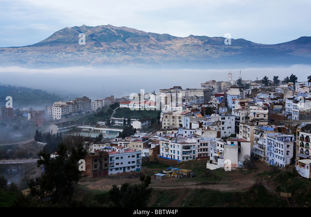 View Over Chefchaouen, Morocco - Stock Image