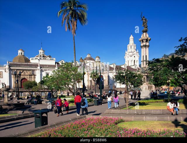 Plaza de Independencia, Quito, Ecuador, South America - Stock Image