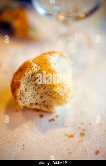 piece of bread - Stock Image