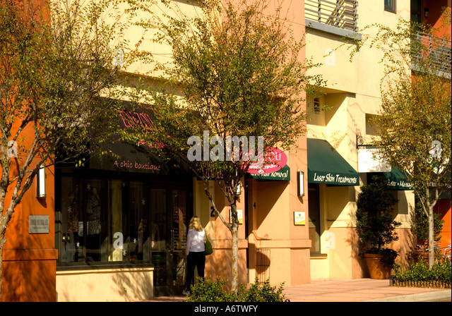 Orlando Florida  Thornton Park stores Central Avenue lifestyle - Stock Image