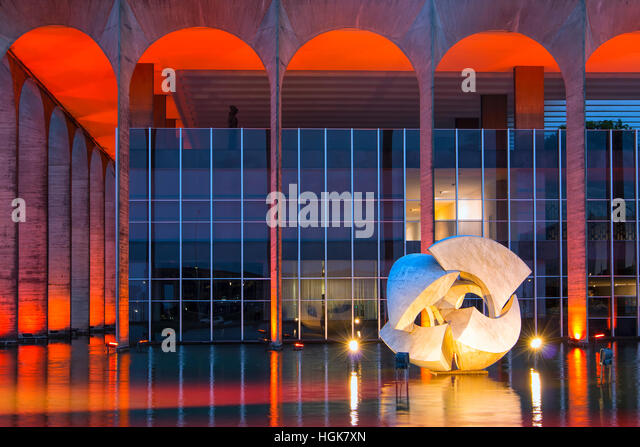 Itamaraty palace , ministery of Foreign Affairs, Brasilia - Stock Image