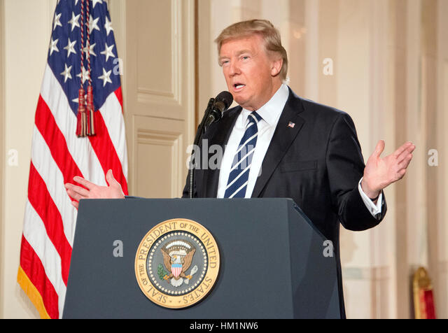 Washington, USA. 31st Jan, 2017. United States President Donald J. Trump announces N. Gorsuch as his nominee to - Stock-Bilder