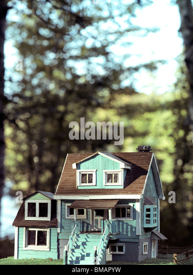 model house outdoors - Stock Image