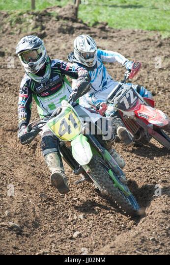 Motocross racing - Stock Image