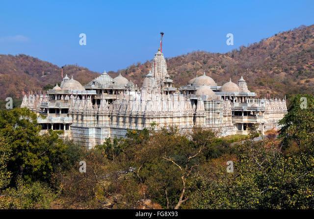 Jain Temple, Ranakpur, Pali, Rajasthan, India, Asia - Stock Image