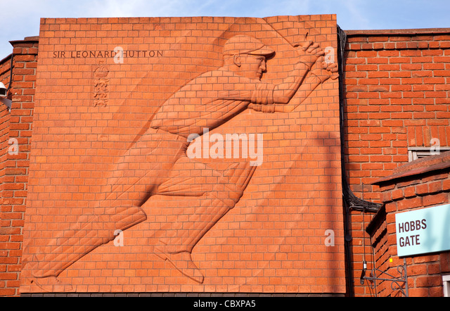 Oval cricket ground - Stock Image