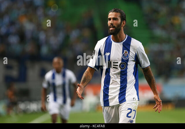 Lisbon, Portugal. 01st Oct, 2017. FC PortoÕs midfielder Sergio Oliveira from Portugal during Premier League - Stock Image